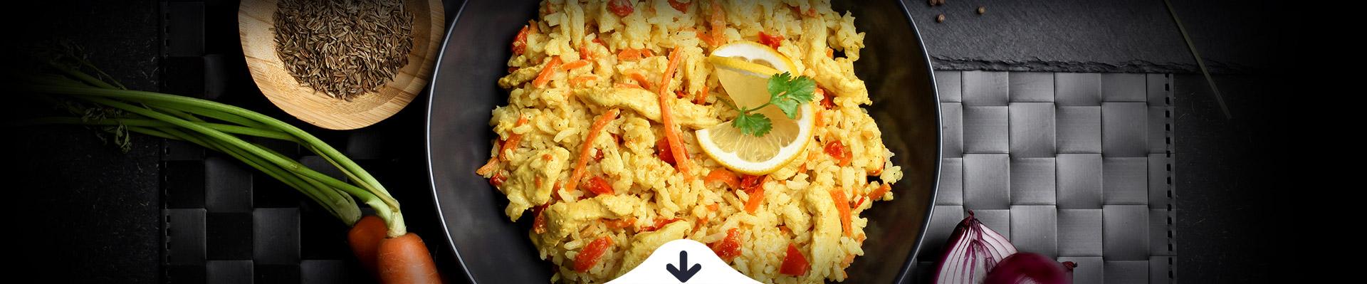 HELLO FOOD Ázsiai currys csirke párolt rizzsel