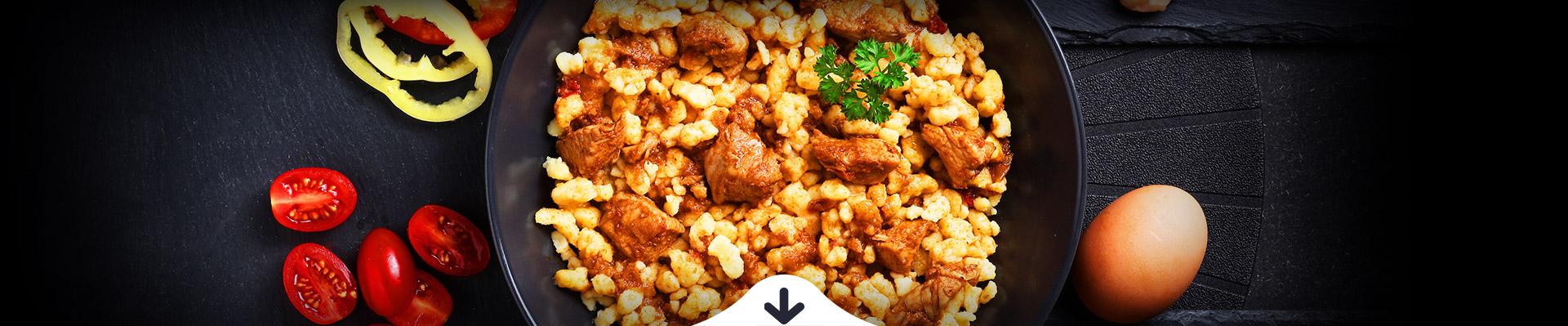 HELLO FOOD FREE Gluténmentes csirkepörkölt galuskával