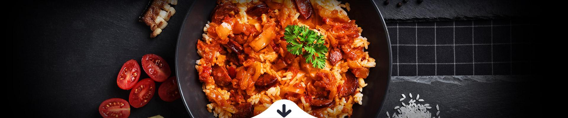 HELLO FOOD Kolbászos lecsó jázmin rizzsel