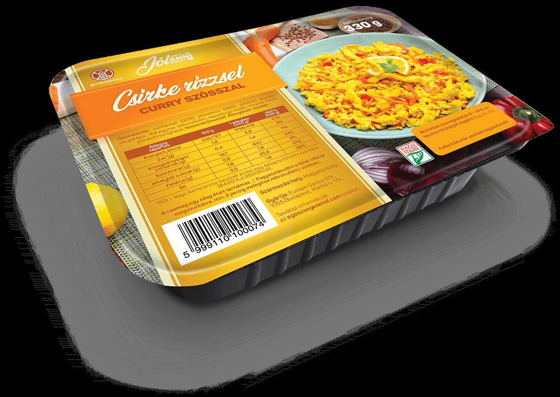 Csirke rizzsel curry szósszal