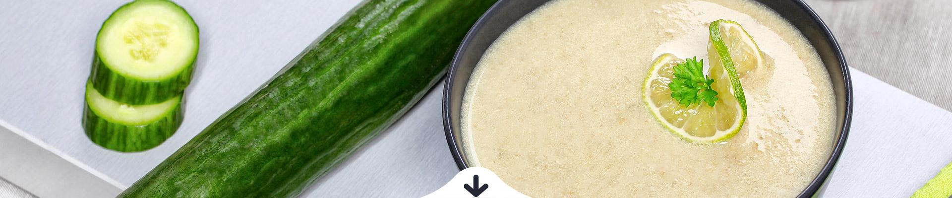 JÓLENNI FREE Hideg lime-os uborka krémleves