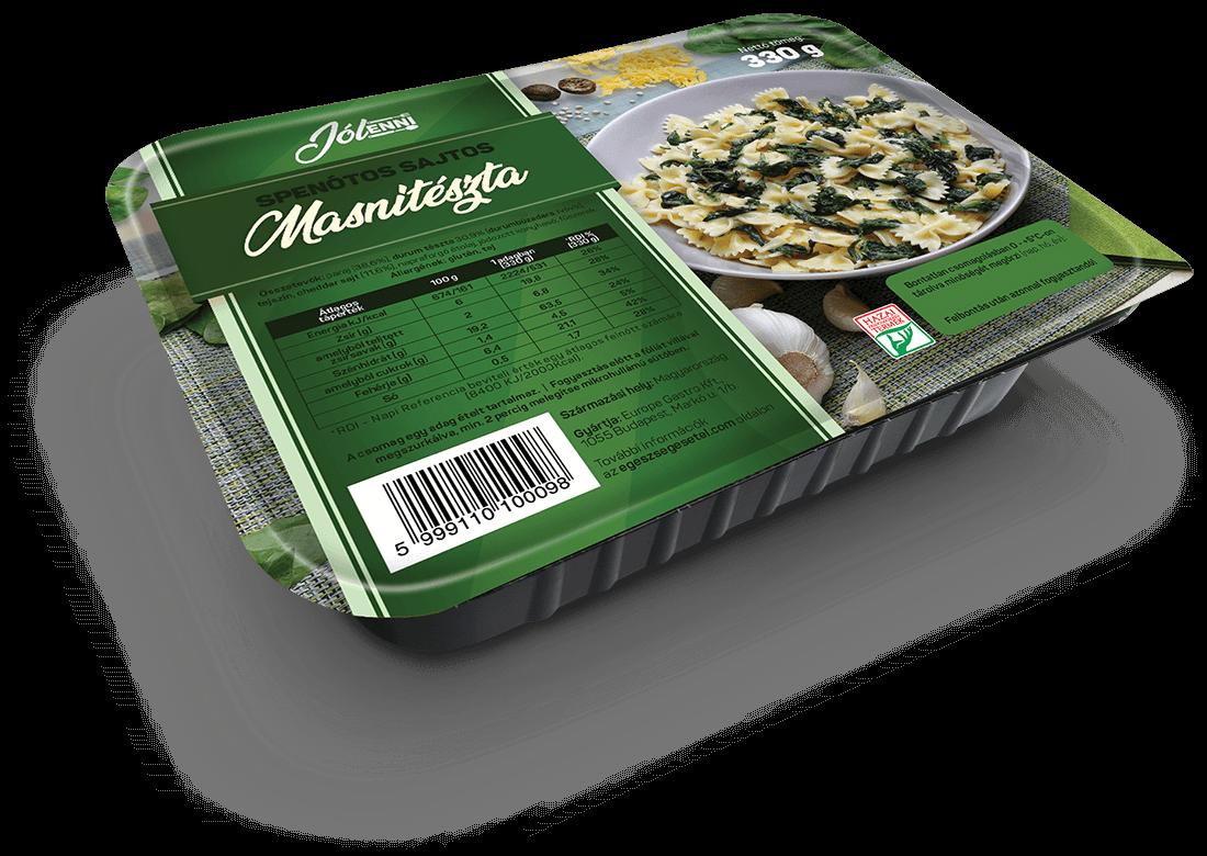 Spenótos sajtos masnitészta